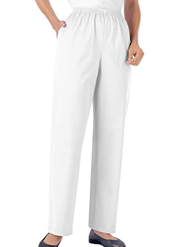 Alfred Dunner Pull-On Twill Pants White ()