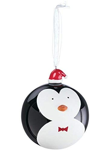 Penguin with Santa Hat 3 inch Black and