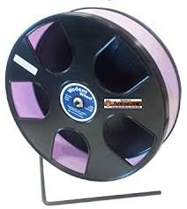 Hamster Wheel 8 inch Transoniq Wodent Wheel Junior, Black with Lavender Track and Ware Rice Pops-Small Animal Treat by CritterTyme (Image #3)