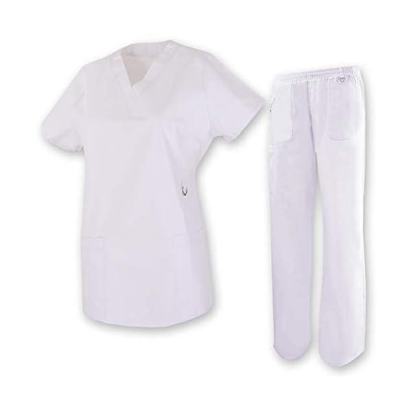 MISEMIYA Medical Uniform Scrub Set Conjunto de Trabajo Unisex Adulto 2