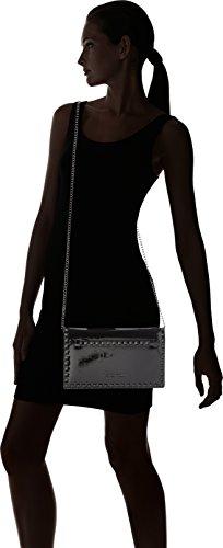 Mujer 61004 hombro de bolsos y Negro Patent Shoppers Marco Tozzi Black 6fxOq60