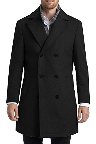 Chaps mens Classic Double-breasted Coat