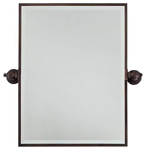 (Minka Lavery Minka 1440-267 Traditional Rectangle Mirror Collection in Bronze/Darkfinish Standard Bath, Upc-747396073835, Standard)