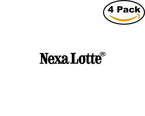 Nexa Lotte 4 Stickers 4X4 Inches Car Bumper Window Sticker Decal