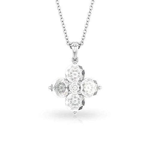 Amazon.com: White Topaz Four Leaf Clover Necklace, Unique