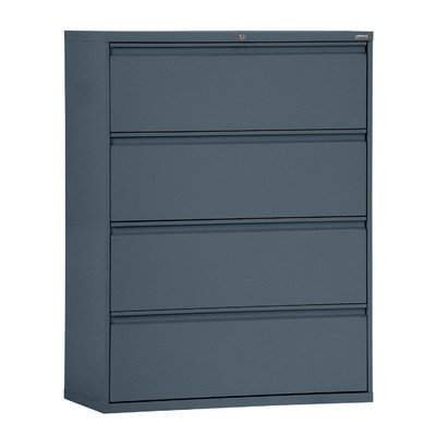 Sandusky Lee LF8F364-02 800 Series 4 Drawer Lateral File Cabinet, 19.25