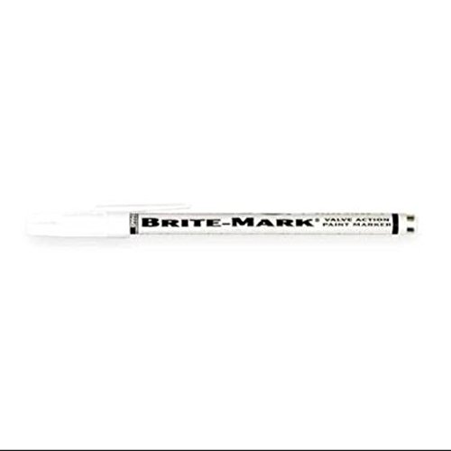 Marker Paint Brite Mark - DYKEM 8030-8418 Brite-Mark Marker, Fine Line, White