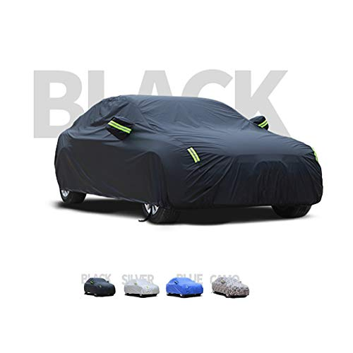 LLHGYY Car Covers, Thick and Cotton Velvet Hood, Compatible with BMW 3 Series, Can Adapt to All Kinds of Weather (Color : A, Size : 340i xDrive M)