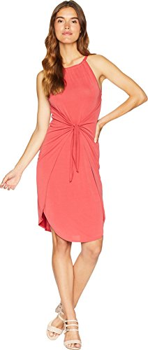 1.State Women's Halter Neckline Tie Front Knit Dress Spice X-Large