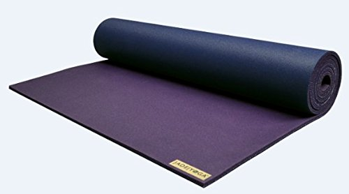 "Jade Fusion XW Yoga Mat (5/16"" x 28"" Wide x 80"" Long) Two-Toned Midnight/Purple"