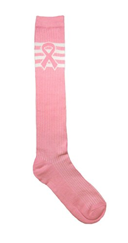 Wholesale New Breast Cancer Awareness 12 Pair Knee Sock 9-11 Pink Pink Ribbon by Unknown
