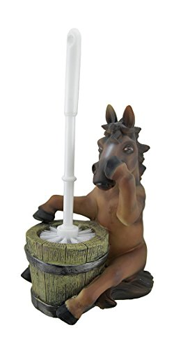 Zeckos Nose Holding Horse Helper Toilet Brush and Holder Set