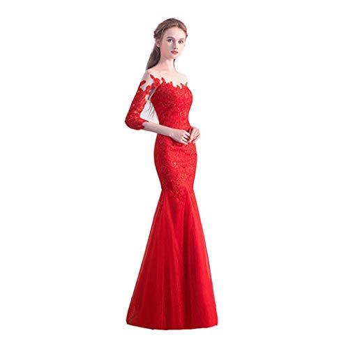 M Vestito A Cerimonia colore Tunica Nuziale Tubo Della Del Dimensioni A Da Rossa wgqwPOR1