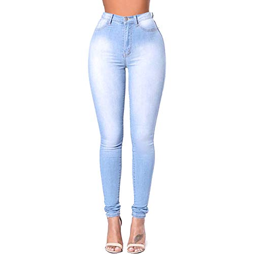 Blue 1 Skinny Blue Color Stretchy Jeans Slimming High Fit Rise Wowulgar Size XXL Basic Mujer 2 xPTwqavnC