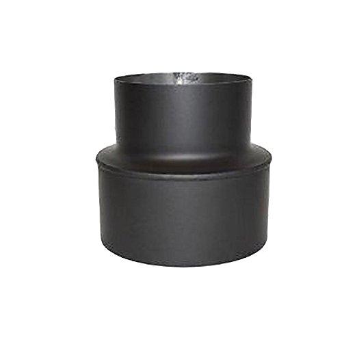 Rauchrohr, Ofenrohr 2mm-Erweiterung 120 - 180 schwarz