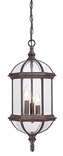 Acclaim 5274BW Dover Collection 3-Light Outdoor Light Fixture Hanging Lantern, Burled Walnut ()