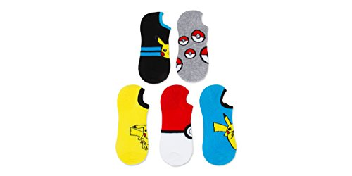 Pokemon-Ladies-and-Juniors-Athletic-5-Pk-Sneakie-Socks