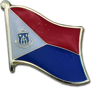 Marvelous Flagline St. Maarten   National Lapel Pin
