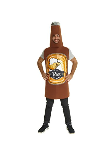 Morph Men's Beer Bottle Costume, One Size ()