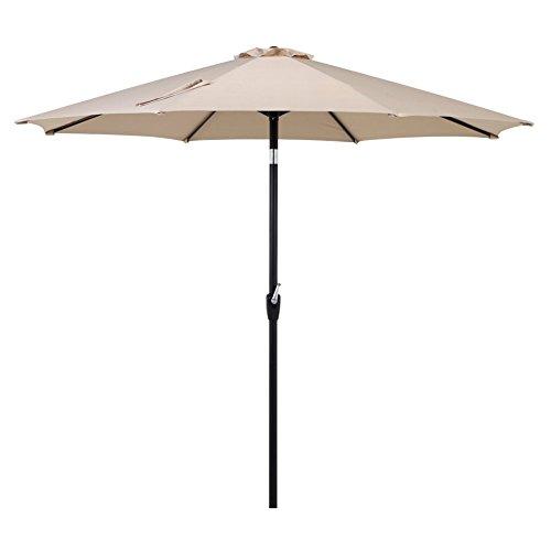 Grand Patio 10 FT Super Sturdy Aluminum Patio Umbrella, UV Protected Outdoor Umbrella, Beige