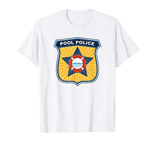 Pool Police Gym Manager Cabana Boy Funny Lifeguard Squad T-Shirt