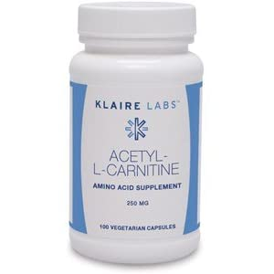 Klaire Labs Acetyl L Carnitine 250 Mg Hypoallergenic ALCAR (100 Capsules)