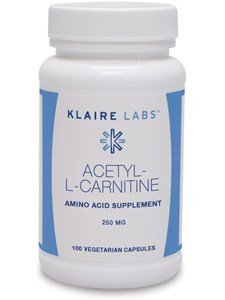 Klaire Labs Acetyl L Carnitine (250 Mg), 100 Vegetarian Capsules