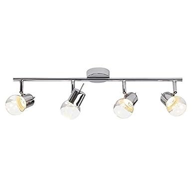 Brilliant G38132/15 A+, Lastra LED Spotrohr, 4-flammig, Metall, 4.6 W, Integriert, chrom, 70 x 17 cm [Energieklasse A+] Brilliant AG