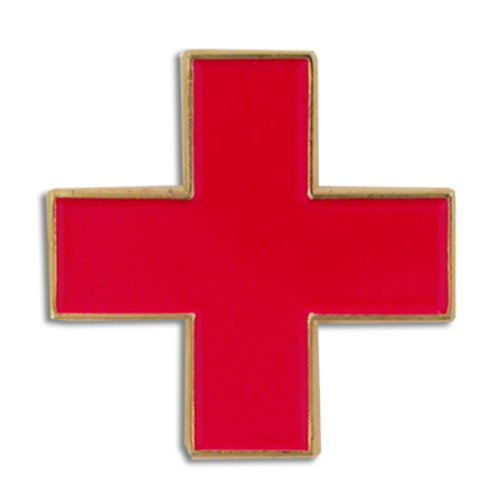 PinMart's International Red Cross Medical Enamel Lapel Pin 3/4