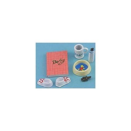 Amazon.com: Casa de muñecas miniatura juego de bebé: Toys ...
