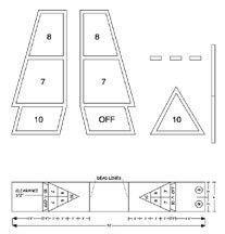 (Plastic Shuffleboard Court Stencil (EA))