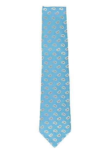 Isaia Mens Sky Light Blue 100% Silk Paisley Pattern Classic Tie~RTL$275 ()