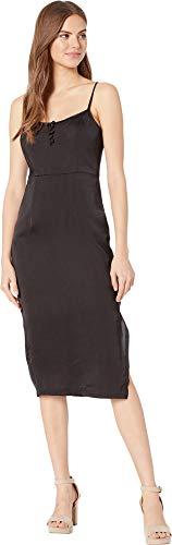 BCBGeneration Women's Button Front Slip Dress - ULL6189954 Black 8