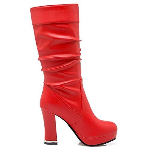 Pull Tacco Stivaletti RAZAMAZA 2 Donna On Rosso Alto Moda wXqOREP