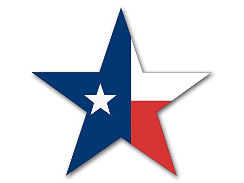 STAR Shaped Texas Flag Sticker (tx bumper lone decal) Confederate Flag Accessories