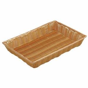 18'' x 12'' x 2 1/2'' Synthetic Shallow Wicker Baskets, Natural by Retail Resource