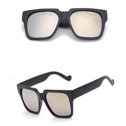 Sunyan neuen-match Trendsetter star Sonnenbrillen Unisex Sonnenbrille große bunte Box 9708, Helles Schwarz voller Asche