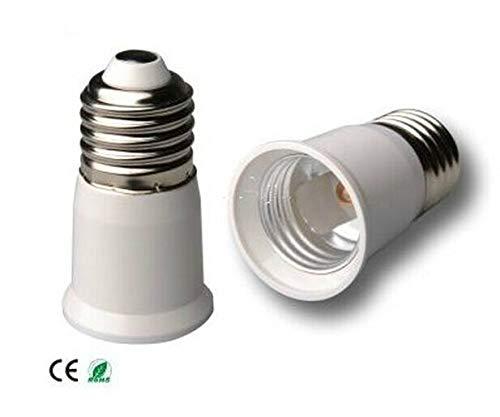 Halica 100pcs E27 TO E27 Extension Lamp Holder Socket Adapter Converter