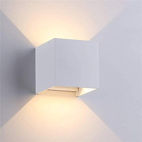 Light Beam Angle Adjust Outdoor Waterproof Wall Lamp LED Wall Light Indoor Wall Sconce Porch Garden Lights Wall Lamp FR66 Cold White 6w Black