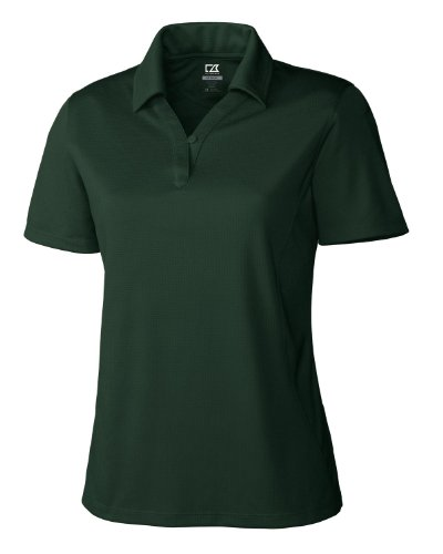 Cutter & Buck Women's Plus Size Drytec Genre Short Sleeve Polo, Hunter, 3X