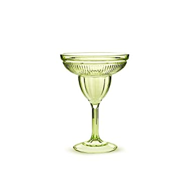 Abbott Acrylic Margarita Glasses Set, Green, (Pack of 6)