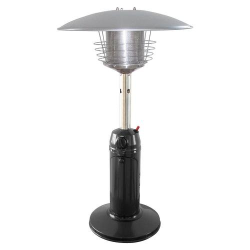 Garden Sun GS3000BK Table Top 11,000 BTU Propane Powered Patio Heater With Push Button Ignition, Black