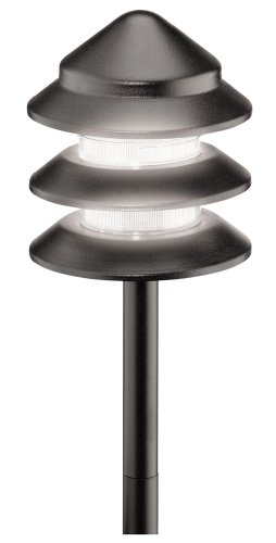 Malibu 8301-9202-01 Metal Tier Light, Black