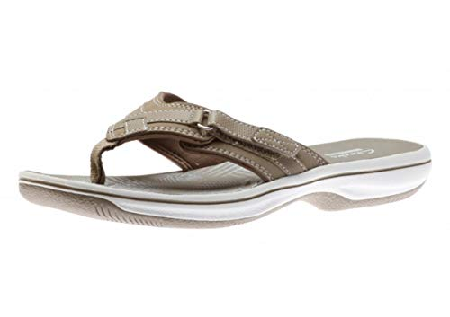 CLARKS Womens Breeze Sea H Flip Flop, Size: 10 B(M) US, Color Taupe Synthetic