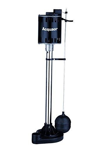 - Acquaer 1/3 HP Pedestal Pump - Stainless Steel column+Cast Iron base