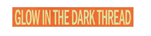 Custom Glow-in-The-Dark Uniform Name Tapes, Over 50 Fabrics Made in The USA! Neon Orange 3.5