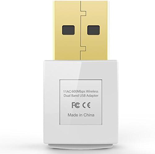 EDUP EP-AC1619 Wireless Mini 11AC 600Mbps Dual Band Wireless Adapter WI-FI USB Mini Adapter 802.11AC 2.4G//5.8G