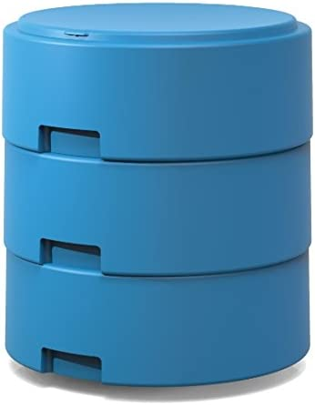 Smith System Cerulean Blue Oodle Stool w One Movement Disc w Felt Pad Adjustable Height Classroom Active Seating