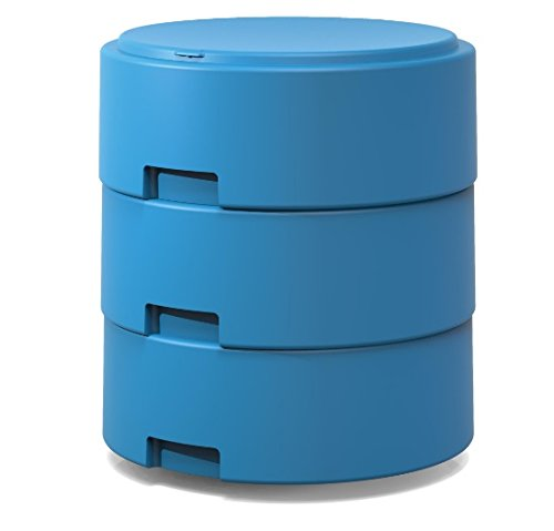Smith System Cerulean Blue Oodle Stool w/One Movement Disc w/Felt Pad Adjustable Height Classroom Active Seating for Kids, Teens and Teachers by Smith System