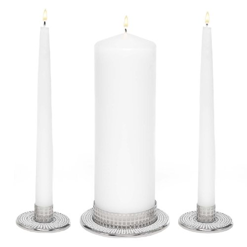 Hortense B. Hewitt Vintage Pearl Candle Stands, Set of - Candles Unity Wedding Discount